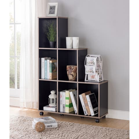 Selenia Contemporary Tiered Mobile 6-shelf Display Cabinet by FOA