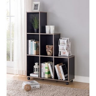 Furniture of America Selenia Contemporary Tiered Mobile 6-shelf Display Cabinet