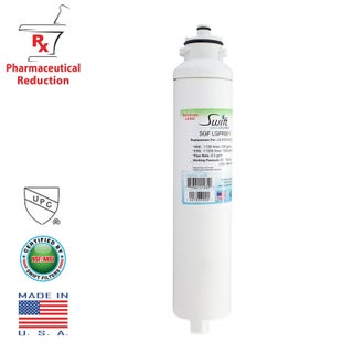 Swift Green SGF-LGFR06 Rx Pharmaceutical Replacement Water Filter For LG M7251242F-06, M7251253FR-06 - White
