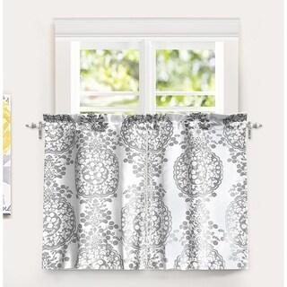 DriftAway Samantha Medallion Pattern Kitchen Tier Window Treatment