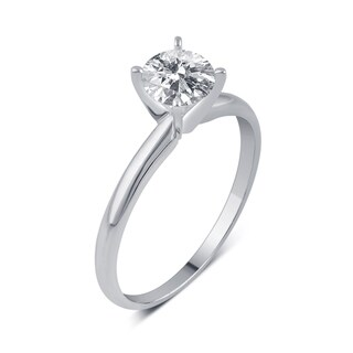 Divina 14KT White Gold 1/5ct TDW Diamond Solitaire Engagement Ring
