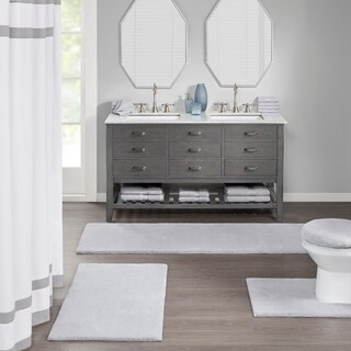 Madison Park Signature Marshmallow High Pile Fade Resistant Toilet Lid Cover 5-Color Option