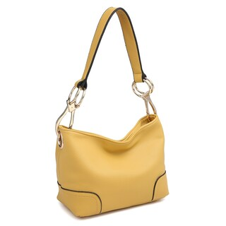 Dasein Classic Corner Patched Hobo Bag (Option: Tan)