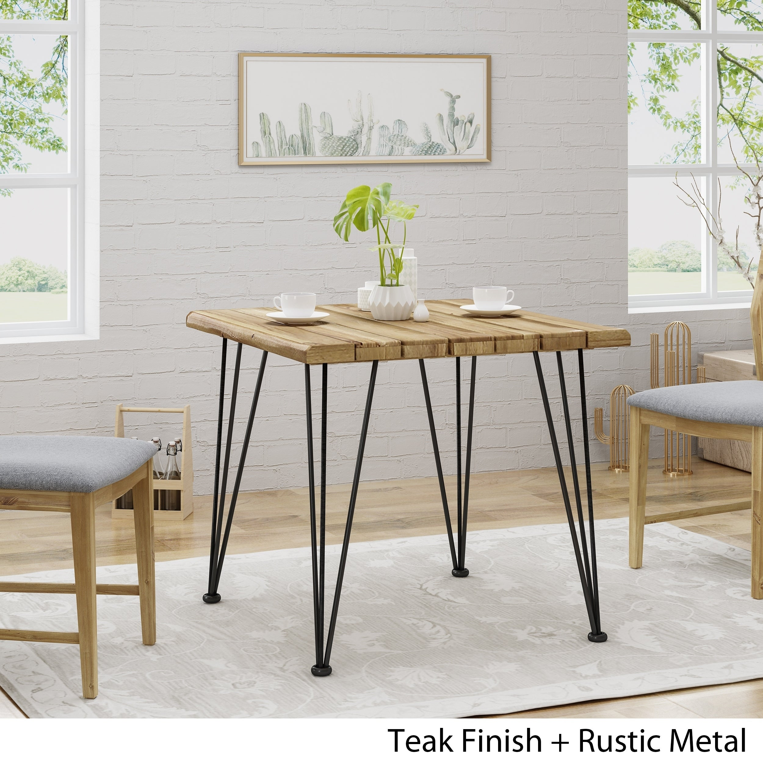 Roberto Dining Table Industrial Design Home Furnishings Handmade In Los Angeles From Reclaimed Wood And Solid Metal Mortise Tenon