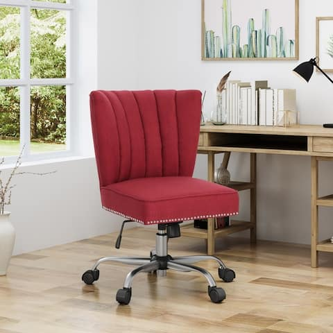 Booker Contemporary Fabric Home Office Chair by Christopher Knight Home - N/A