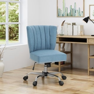 """Booker Contemporary Fabric Home Office Chair by Christopher Knight Home - 23.25""""W x 25.50""""L x 24.75""""H"""