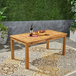 Nestor Outdoor Expandable Acacia Wood Dining Table by Christopher Knight Home