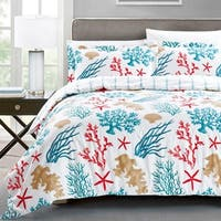 California Design Den Cotton Nautical Medallion Duvet Cover Set