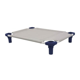 Mahar Manufacturing 40x22 Pet Cot in Gray with Navy Legs - Unassembled