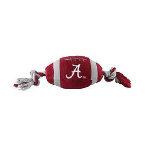 Pets First NCAA Alabama Crimson Tide Sports Team Logo Plush Football Dog Toy