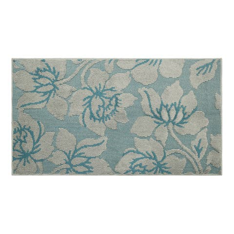 Jean Pierre All Loop Kimmy 28 x 48 in. Decorative Textured Accent Rug, Grey/Blue Lagoon - 2'3 x 4'