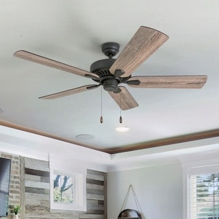 Link to The Gray Barn Jutland Farmhouse 52-inch Aged Bronze Ceiling Fan in Barnwood/Tumbleweed Blades Similar Items in Ceiling Fans