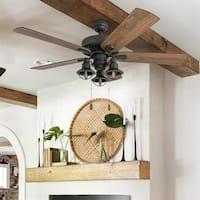 The Gray Barn Stormy Grain Aged Bronze 52-inch Farmhouse LED Ceiling Fan
