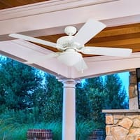 Honeywell Belmar 52-inch White Indoor/Outdoor LED Ceiling Fan