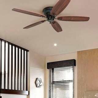"""Honeywell Glen Alden 52"""" Oil Rubbed Bronze Low Profile Hugger Ceiling Fan"""