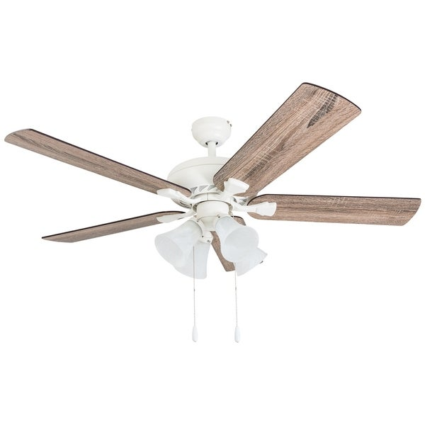Shop Prominence Home Boston Mills Farmhouse Canary White 52 Inch Ceiling Fan With Light And