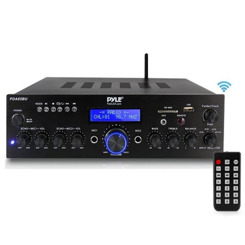 52c41d5baa8 Pyle PDA65BU Compact Home Theater Amplifier Stereo Receiver with Bluetooth  Wireless Streaming