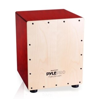 Pyle PCJD25 Snare Style Birch Wood Compact Acoustic Jam Cajon Wooden Hand Drum Percussion Beat Box