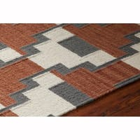Artist's Loom Abagail Collection Hand-Woven Wool Shag Rug - 5' x 7'6""
