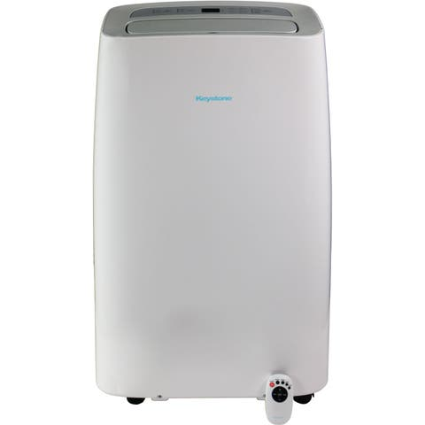 "115V Portable Air Conditioner with ""Follow Me"" Remote Control for Rooms up to 200-Sq. Ft. - White"