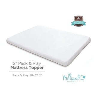 """Milliard 2"""" Thick Memory Foam Pack and Play Topper - 38 x 26"""