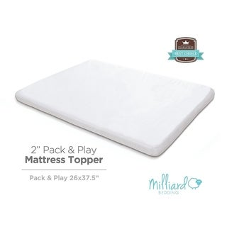 "Milliard 2"" Thick Memory Foam Pack and Play Topper - 38 x 26"