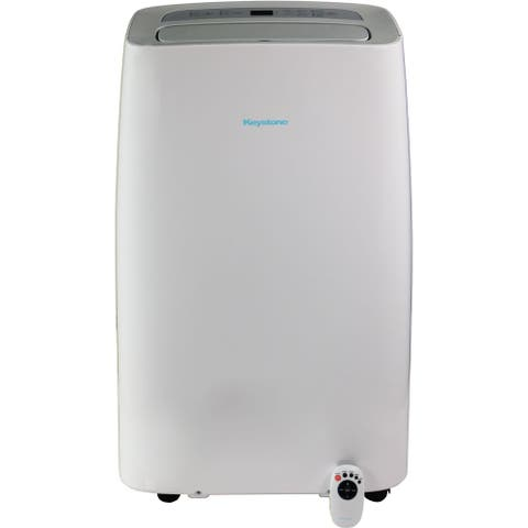 """115V Portable Air Conditioner with """"Follow Me"""" Remote Control for Rooms up to 250-Sq. Ft. - White"""