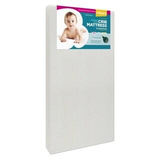 "Milliard Premium Memory Foam Toddler Bed and Next Stage Baby Crib Mattress- 27.5""x52""x5.5"" - White - 52 x 27.5 x 5.5"