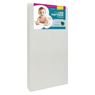 "Milliard Premium Memory Foam Toddler Bed and Next Stage Baby Crib Mattress- 27.5""x52""x5.5"" - White - 52 x 27.5 x 5.5"
