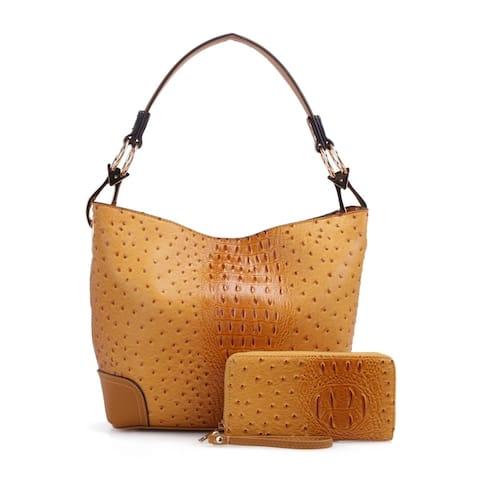 bdcf3ee4fef57 MKF Collection Wandy Soft Vegan Leather Hobo & Wallet by Mia K Farrow