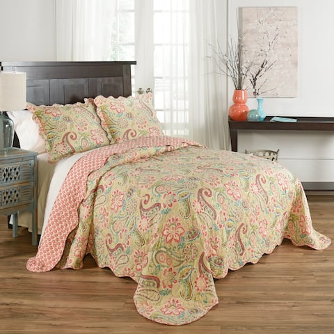 Waverly Wild Card 3 piece Bedspread - Bloom