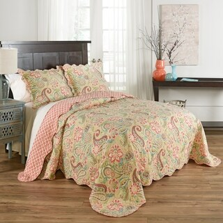Waverly Wild Card 3 piece Bedspread - Bloom