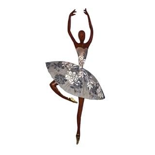 Handmade Dancer in White Wall Décor (Philippines) - 10 x 3 x 20