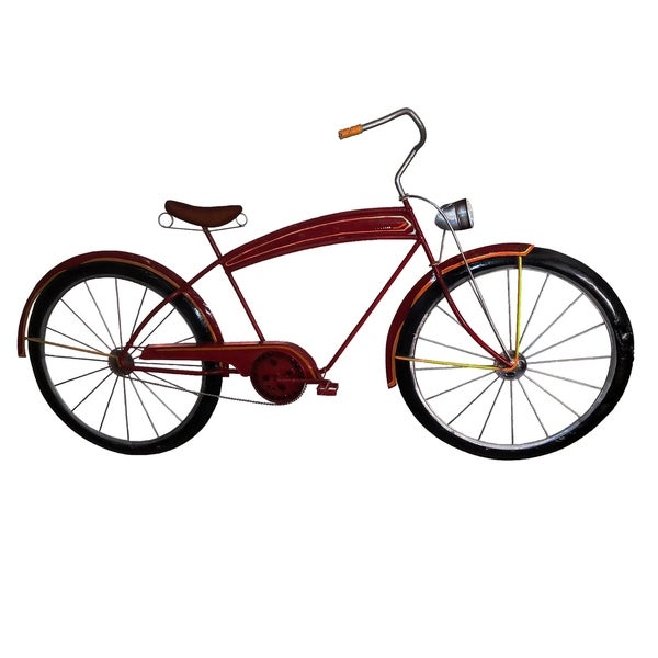 Red Bicycle Wall Decor - 29 x 3 x 17