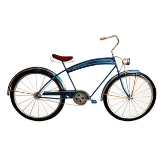Blue Bicycle Wall Decor