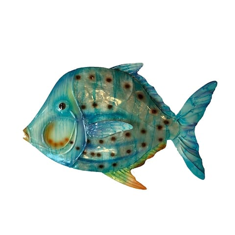 Caribbean Blue Fish Wall Decor