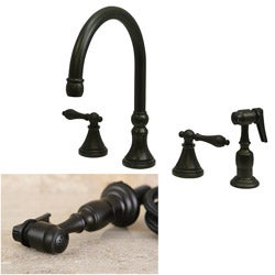 Oil Rubbed Bronze 4 Hole Kitchen Faucet And Sprayer Overstock Com Shopping The Best Deals On Kitchen Faucets
