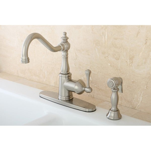 Satin Nickel English Vintage Kitchen Faucet Free Shipping Today Overstock
