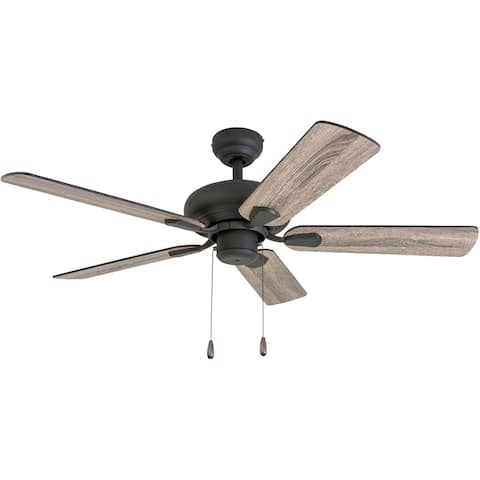 The Gray Barn Heddinge Traditional 42-inch Aged Bronze Ceiling Fan in Barnwood/Tumbleweed Blades