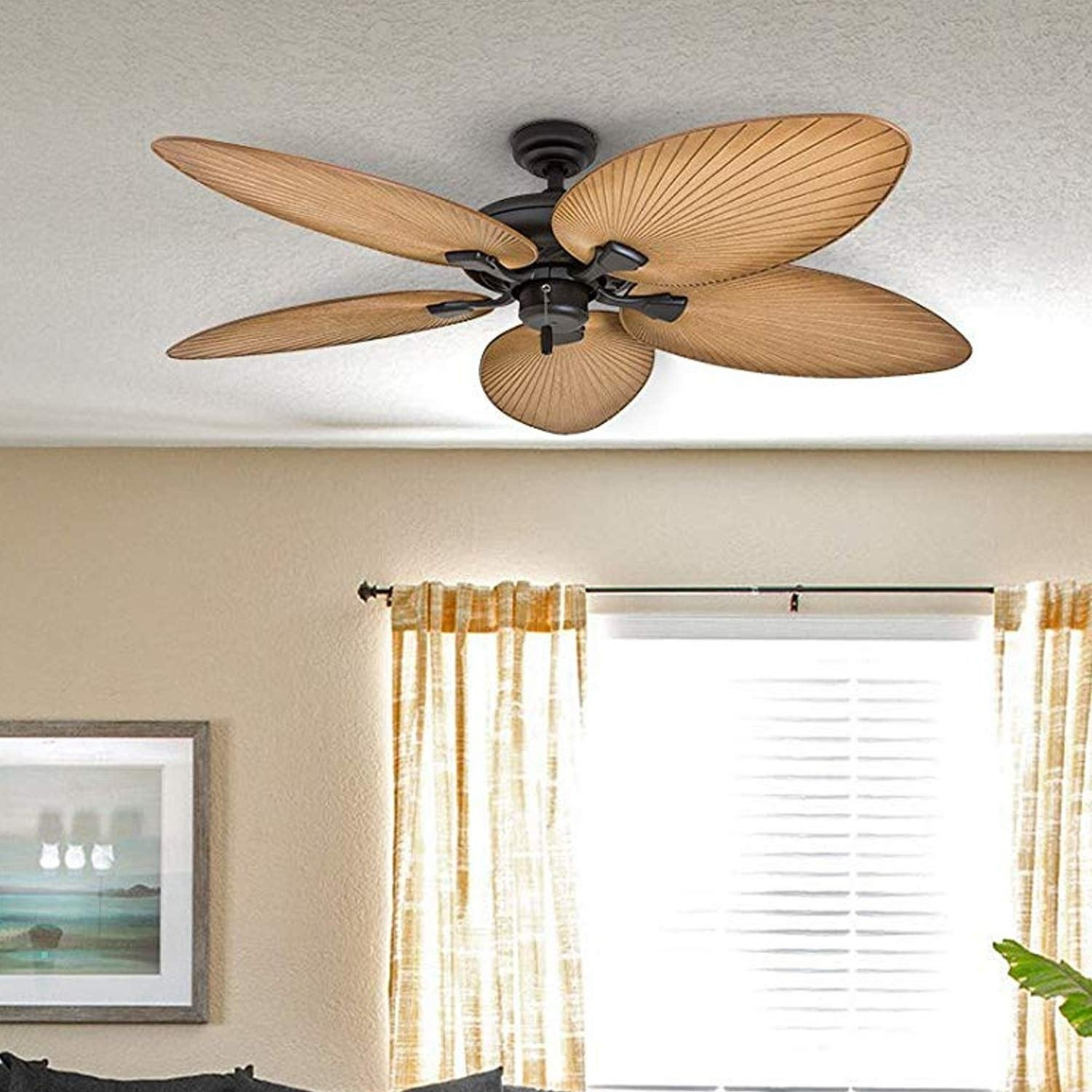 Shop Black Friday Deals On Honeywell Palm Valley Bronze Tropical Ceiling Fan With Palm Leaf Blades 52 Inch Overstock 22344580