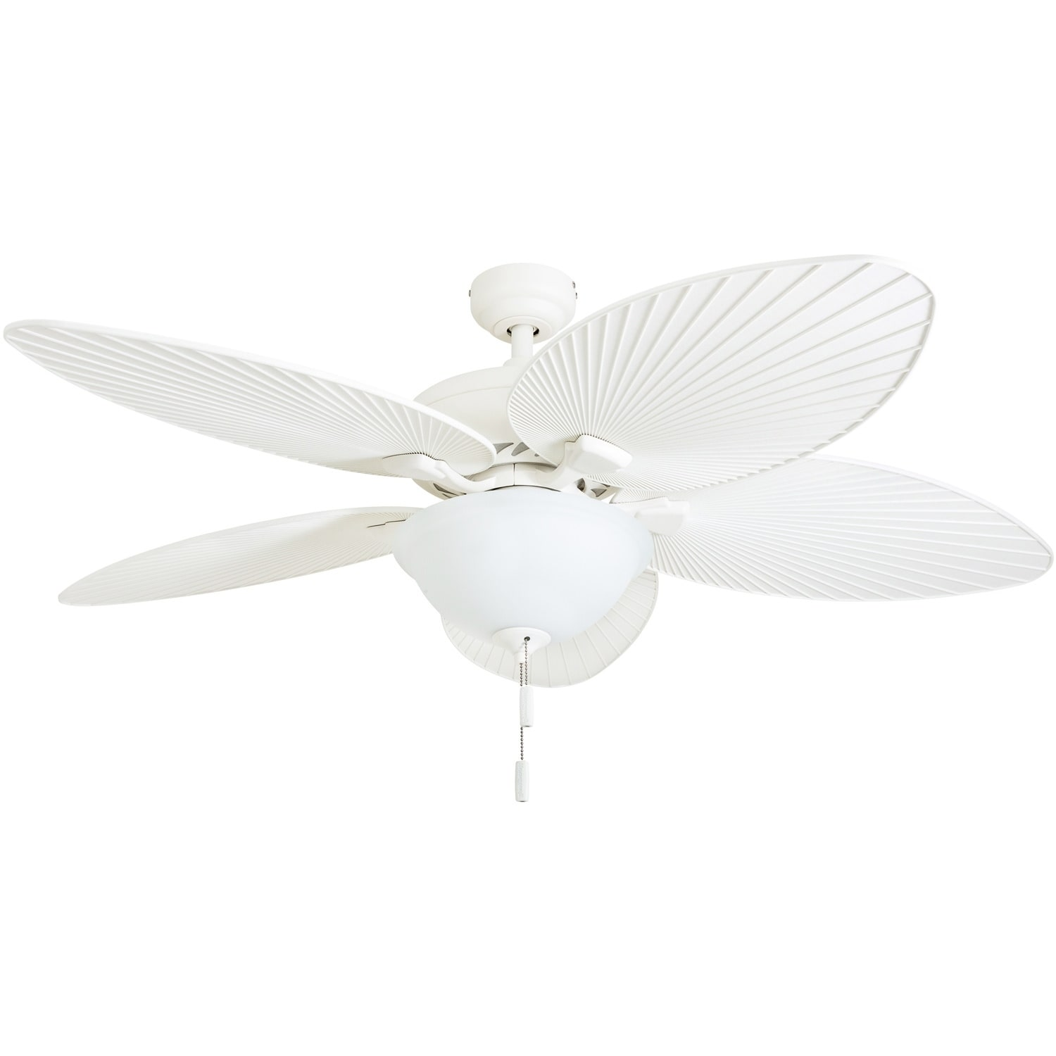 Shop Black Friday Deals On Honeywell Palm Island 52 White Tropical Led Ceiling Fan With Light Palm Leaf Blades Overstock 22344582