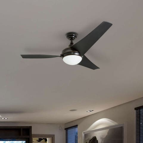 Honeywell Rio Oil Rubbed Bronze Contemporary LED Ceiling Fan, 3 Blade with Remote - 52-inch