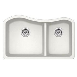 Undermount 32-1/2 in. x 20 in. Quartz Kitchen Sink