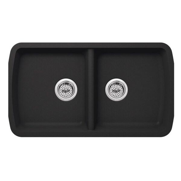 Kitchen Sink 19 X 33: Shop Undermount 33-3/4 In. X 19 In. Quartz Kitchen Sink