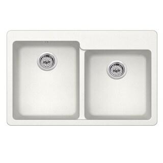 Dual Mount 33 in. x 22 in. Quartz Kitchen Sink