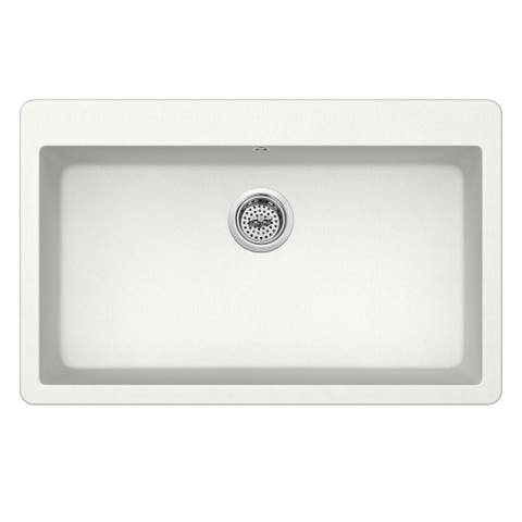Dual Mount 33 in. x 20-7/8 in. Quartz Kitchen Sink