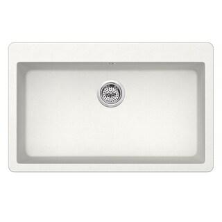 Dual Mount 33 in. x 20-7/8 in. Quartz Kitchen Sink