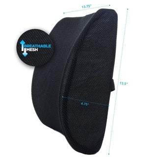 Milliard Memory Foam Lumbar Support Pillow Chair Cushion Lower Back Support for Posture