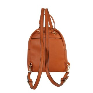 Diophy PU Leather Simple Design Classic Medium Backpack