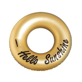 OVE Decors Gold Ring Hello Sunshine Pool Float